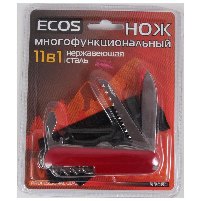 325113 Нож многофункциональный ECOS SR080, красный