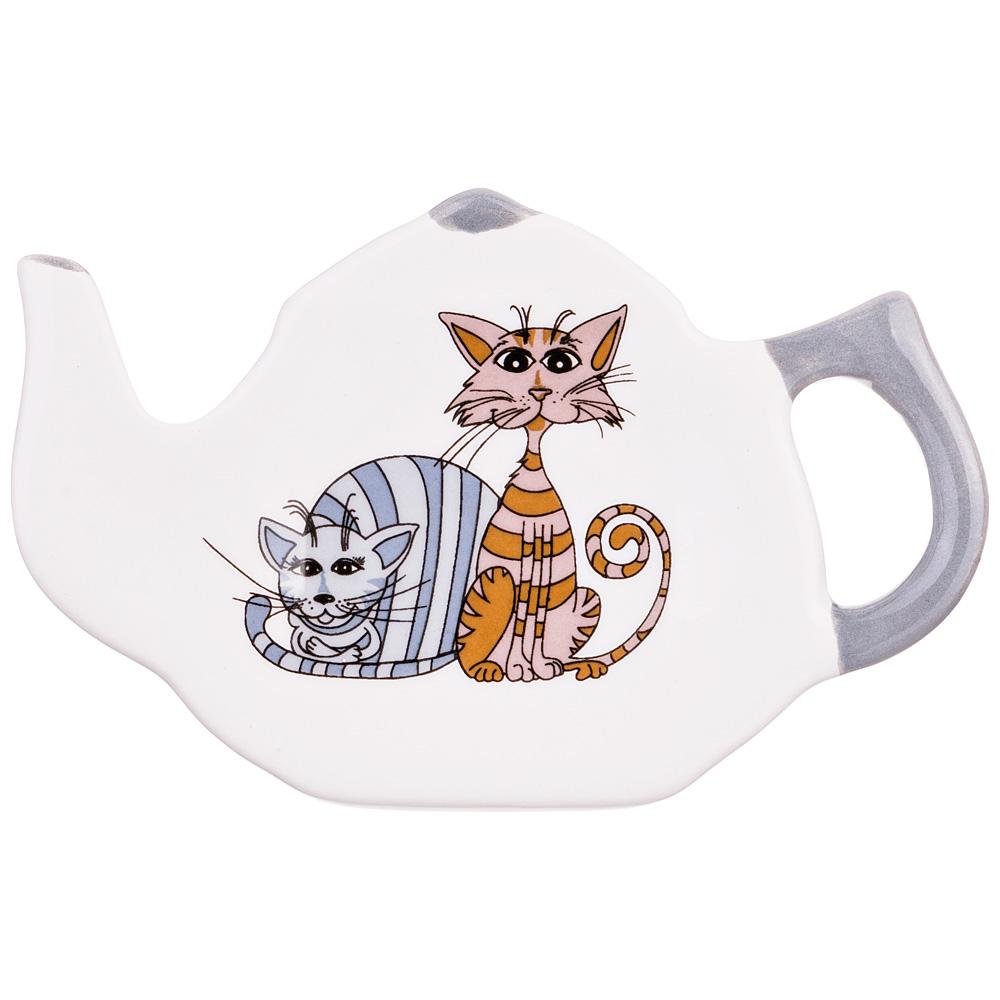 """188-151 Подставка под чайный пакетик """"Озорные коты"""""""
