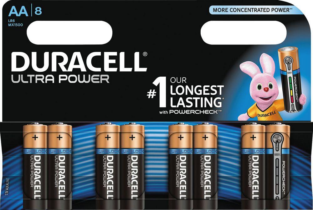 Элемент питания Duracell LR6-8BL Ultra Power (8шт. в блистере)