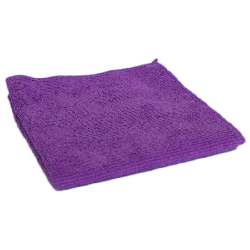 """310225 Салфетка из микрофибры M-02 """"Рыжий кот"""", фиолетовый, размер 30х30см"""