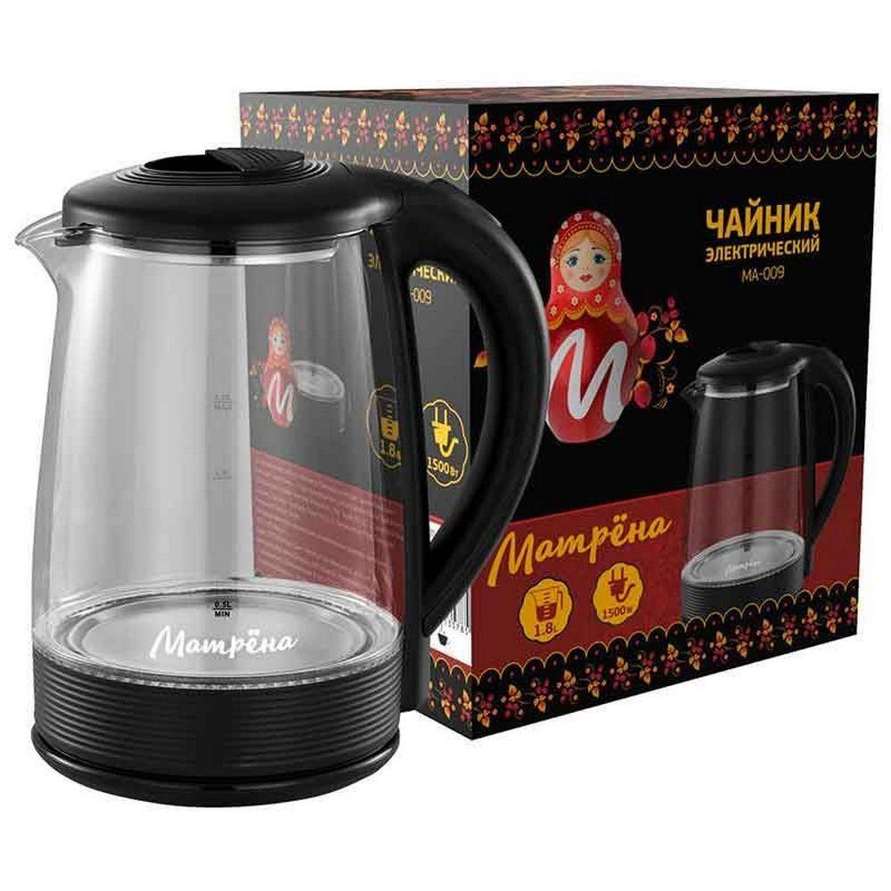 Чайник МАТРЕНА МА-009 черный (005418)