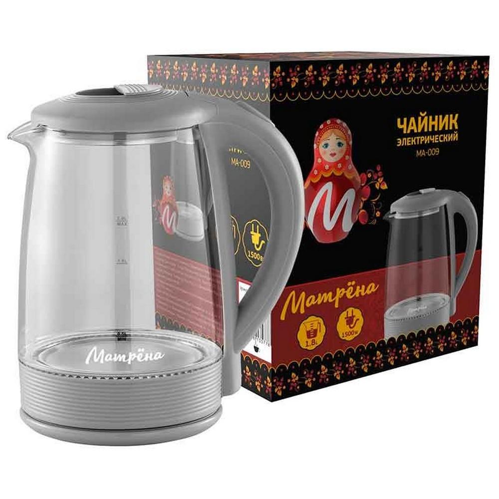 Чайник МАТРЕНА МА-009 серый (005417)