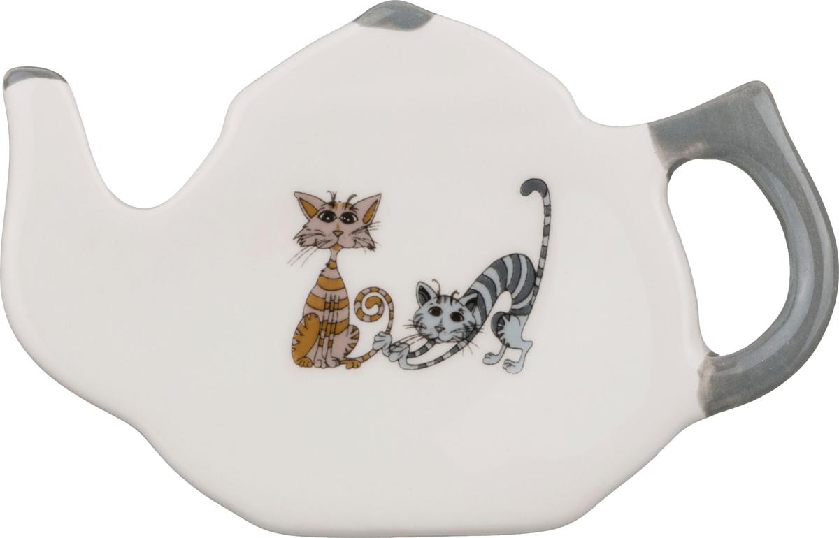 """188-117 Подставка под чайный пакетик """"Озорные коты"""""""