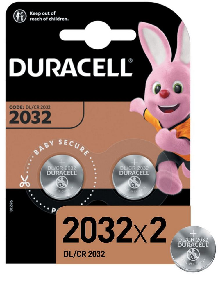 Элемент питания Duracell DL/CR2032-2BL
