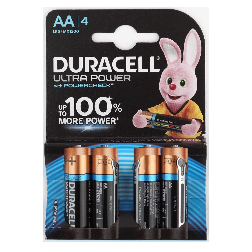 Элемент питания Duracell LR6-4BL Ultra Power (4шт. в блистере)