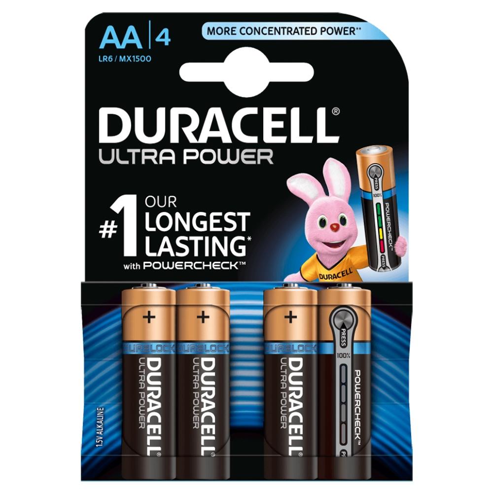 Элемент питания Duracell LR03-4BL Ultra Power (4шт. в блистере)
