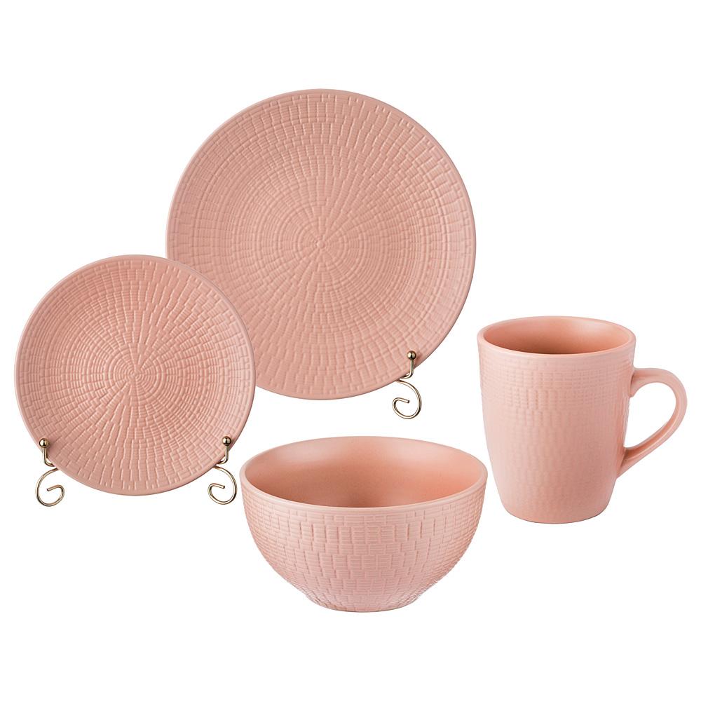 577-101 Столовый сервиз (16 предметов) розовый