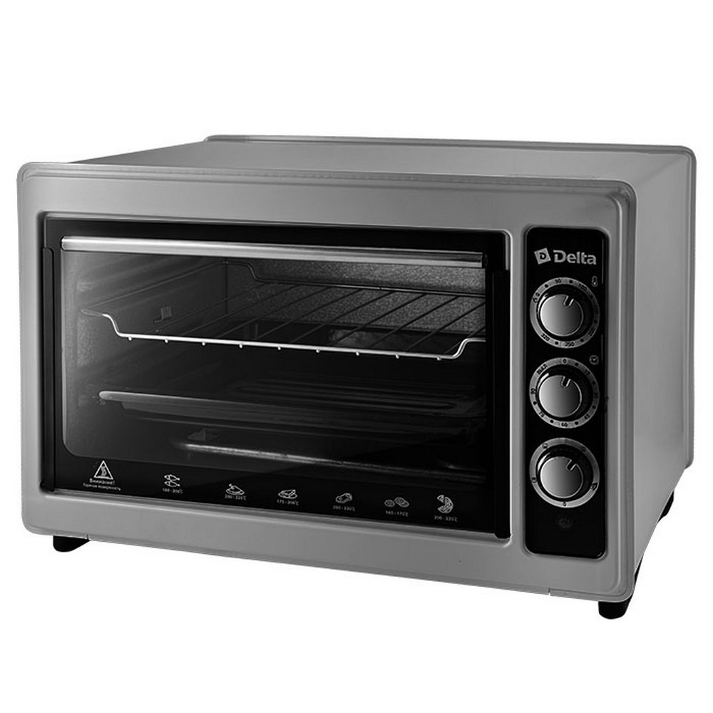 Духовка эл. с термостатом DELTA D-0123 (1300W, 37л) серый