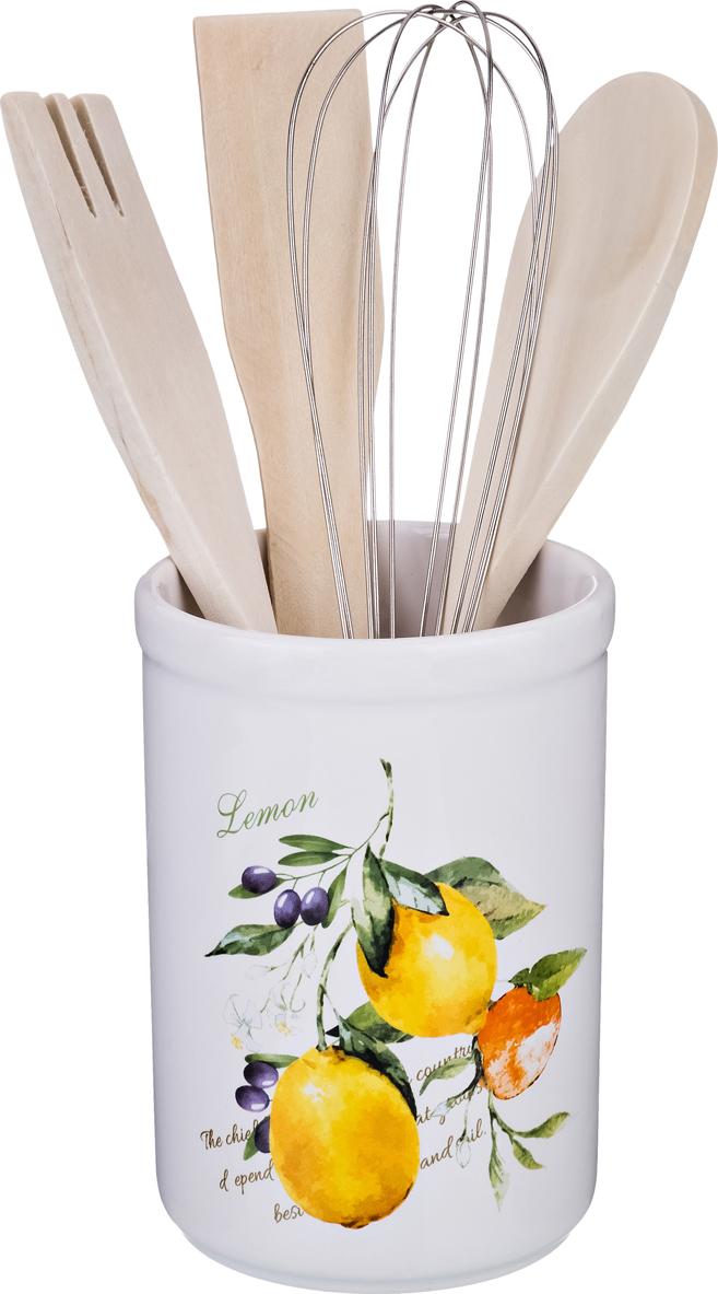 """230-168 Подставка для кухонных принадлежностей """"Итальянские лимоны"""""""