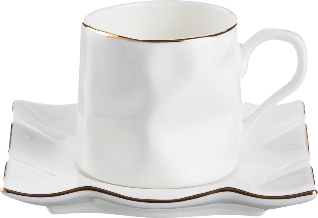 """264-140 Кофейный набор на 1 персону """"Раффл голд лайн"""" 2 предмета"""