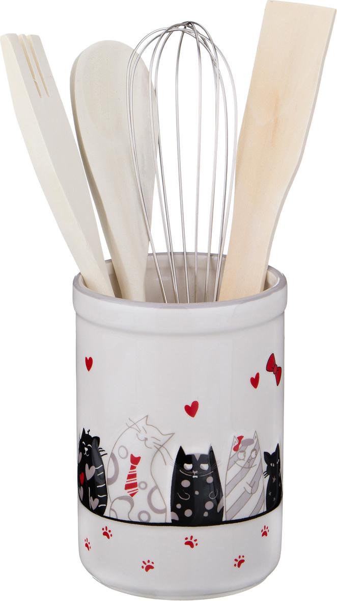 """230-062 Подставка для кухонных принадлежностей """"Кошкин дом"""""""