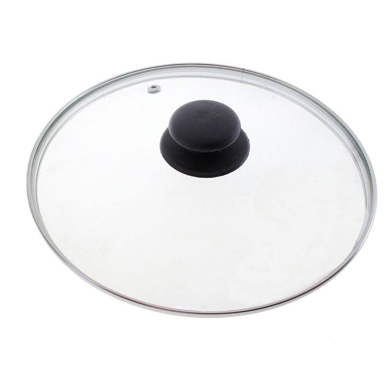 987025 Крышка стеклянная 32см с ручкой Mallony