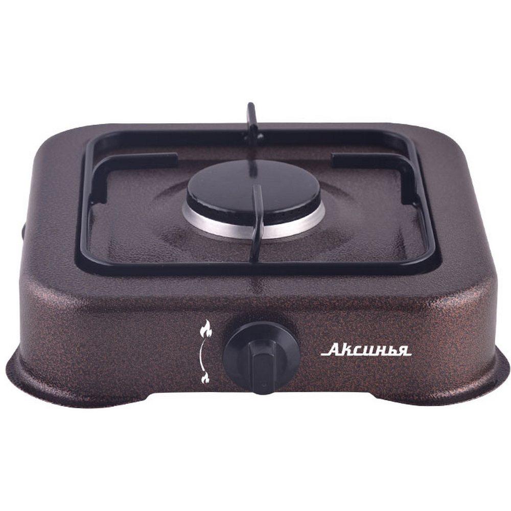 Плита газовая 1-конфорочная АКСИНЬЯ КС-101 коричневый