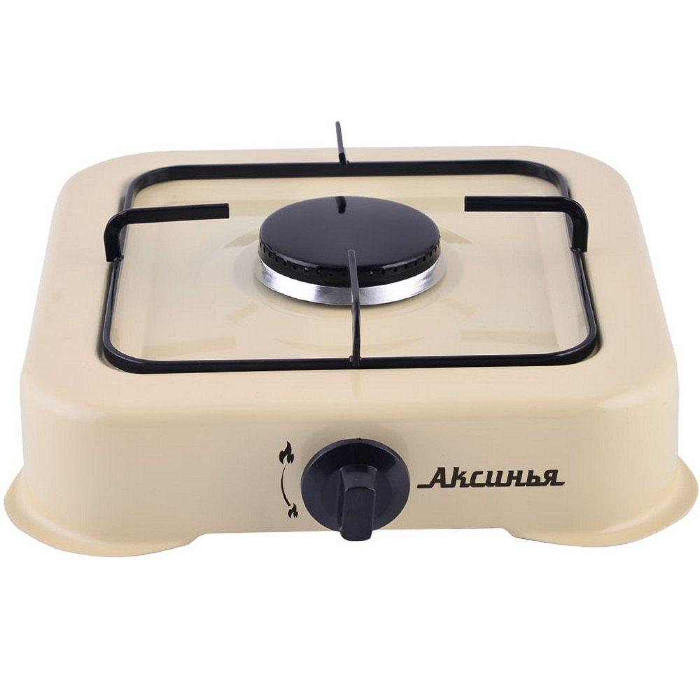 Плита газовая 1-конфорочная АКСИНЬЯ КС-101 молочный