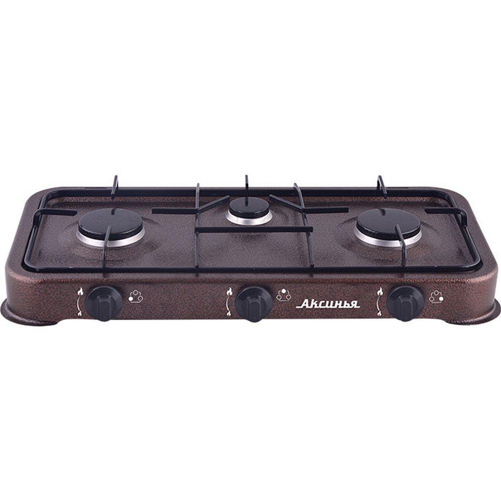 Плита газовая 3-конфорочная АКСИНЬЯ КС-103 коричневый