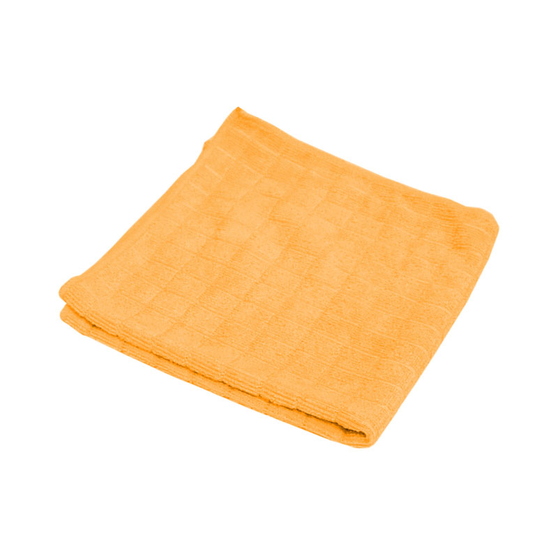 "310206 Салфетка из микрофибры вафельная M-03 ""Рыжий кот"", оранж, размер 30х30см"