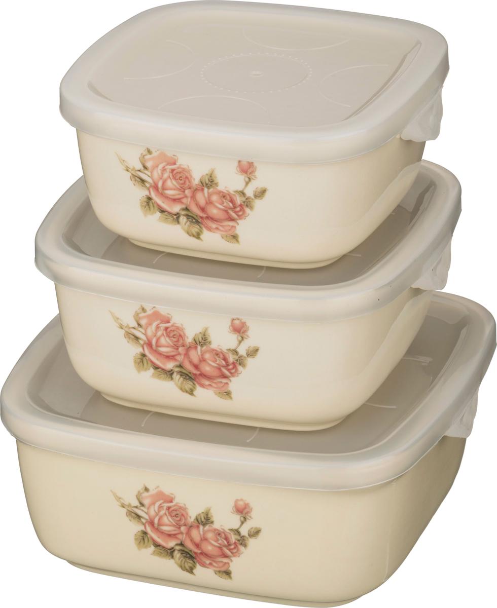 "388-209 Набор блюд для заливного ""Корейская роза"" 3шт"