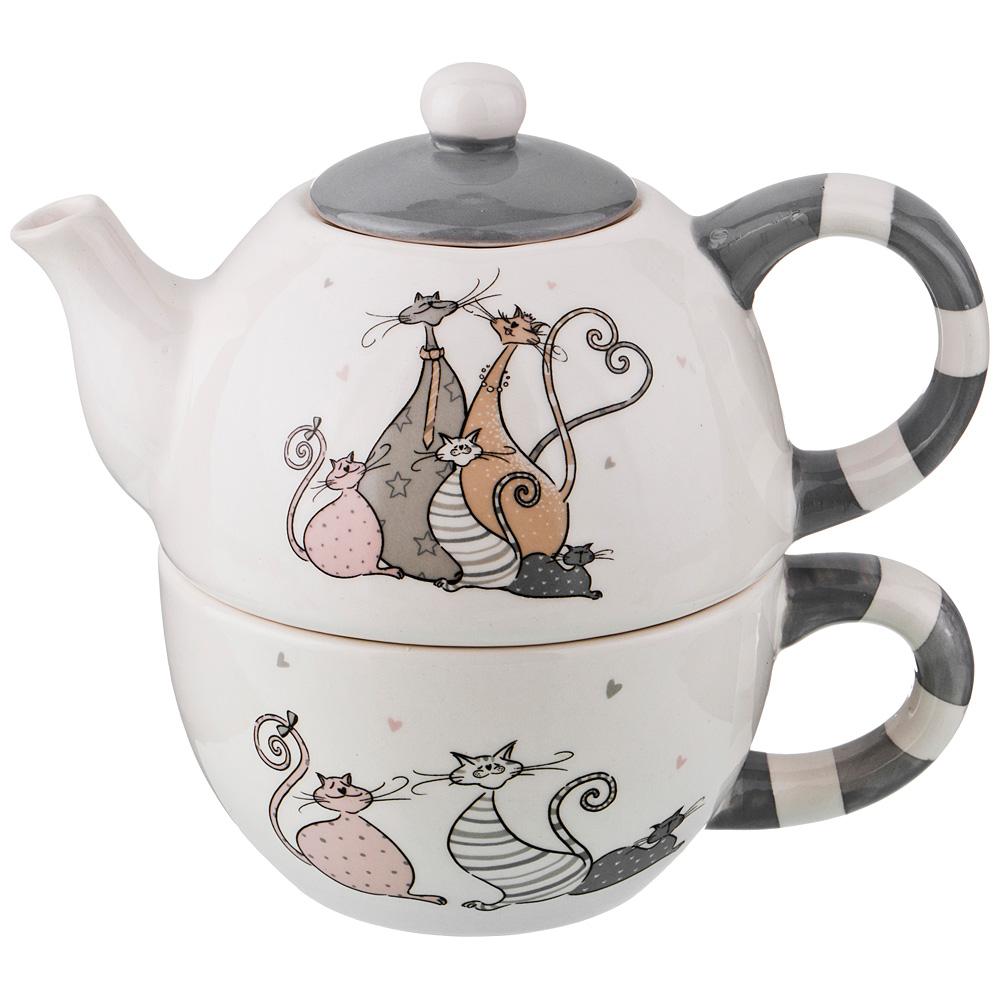 """230-281 Набор чайник заварочный и чашка """"Счастливое семейство"""""""