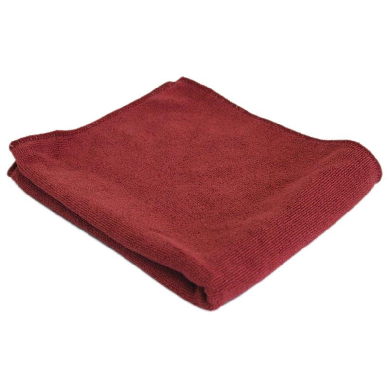 """310228 Тряпка для пола из микрофибры M-02F """"Рыжий кот"""", бордовый, размер 40х50см"""