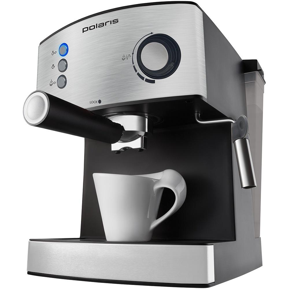 Кофеварка POLARIS PCM 1537AE Adore Crema эспрессо, нержавеющая сталь