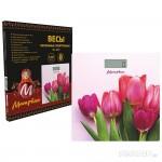 Весы напольные МАТРЕНА МА-090 (180кг) тюльпаны (007835)
